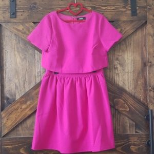 Lulu's hot pink skirt & top set